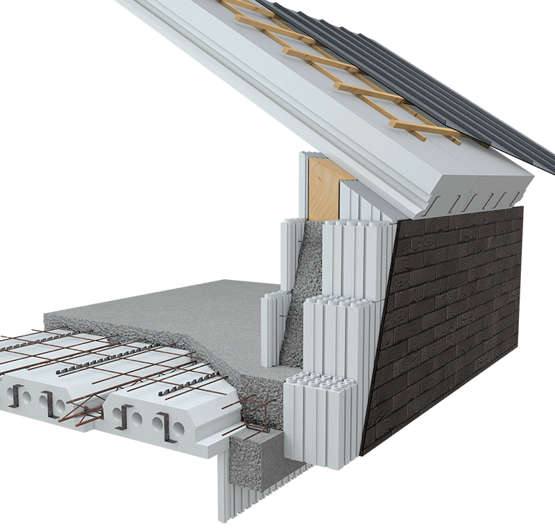 Doe-het-zelf betonbouw. Ontdek ons unieke Euromac2 ruwbouwsysteem van vloer-, wand- en dak elementen die leiden tot energie-neutraal bouwen aan een scherpe prijs.